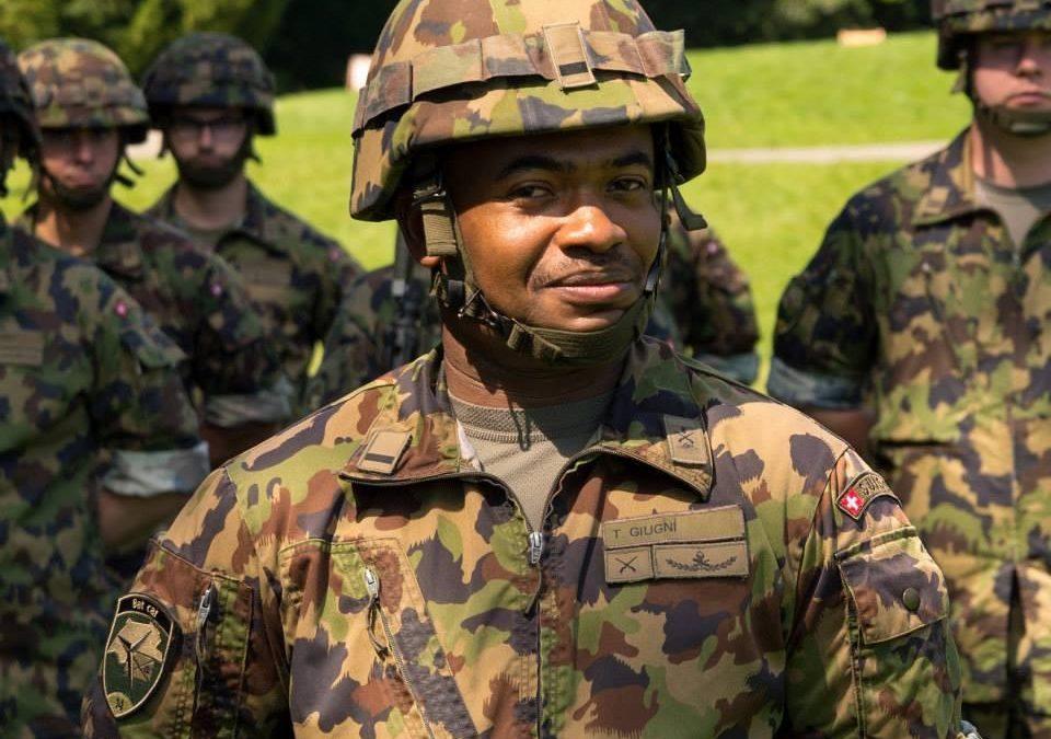 Thierry Giugni, notre Major Africain de l'armée Suisse